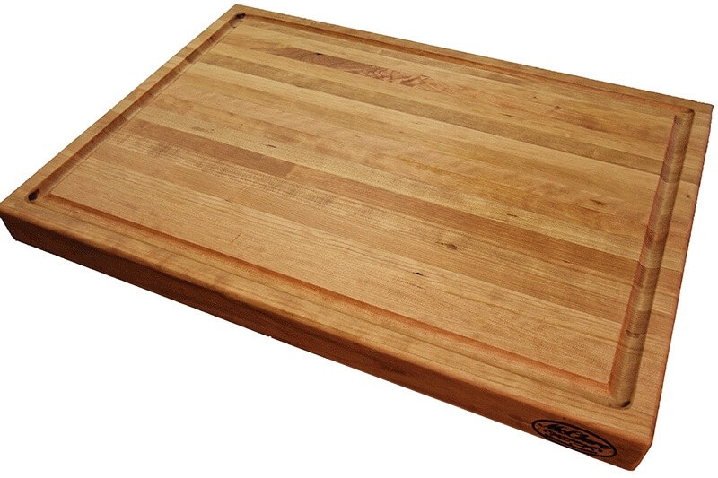 American cherry butcher block cutting board mcclure tables