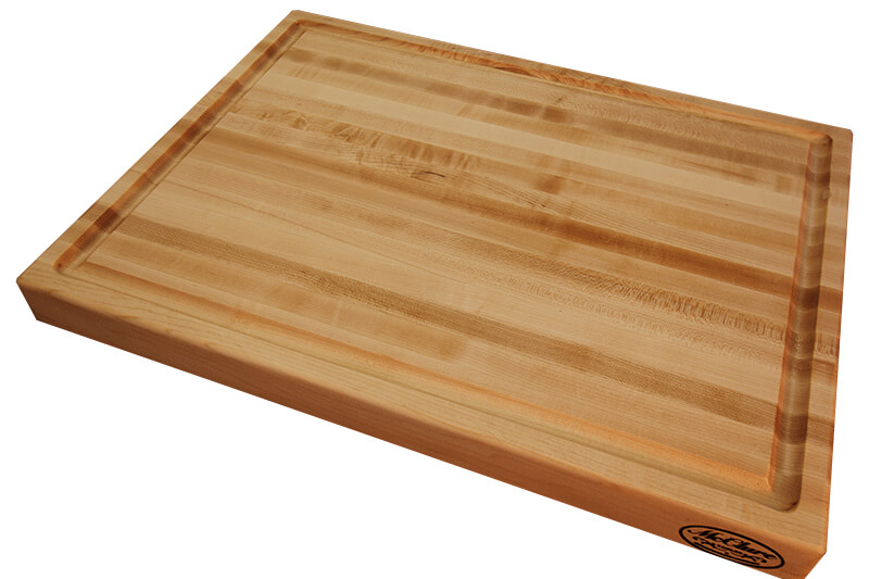 Michigan maple cutting board with juice groove mcclure