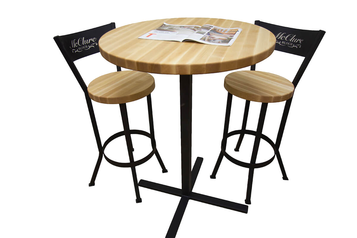 Butcher Block Pub Table Set Mcclure Tables