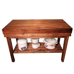 Walnut Kitchen Butcher Block Island Cart