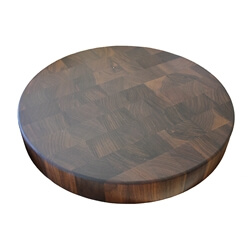 "Walnut Round Chopping Block 18"" x 2"" Thick"