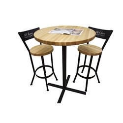 Butcher Block Pub Table Set